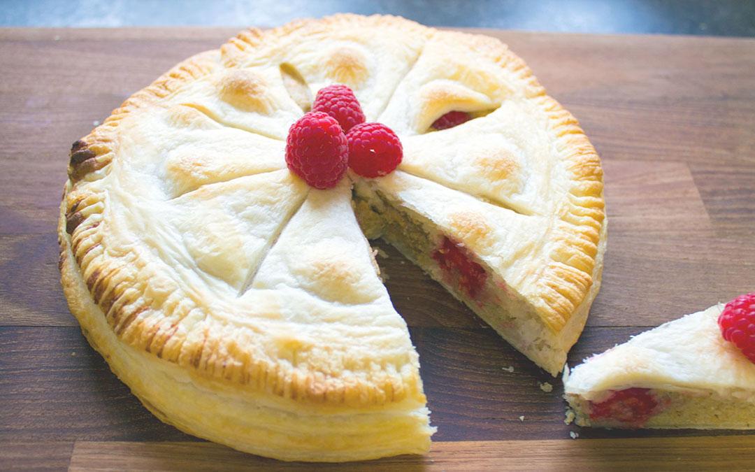 Erdmandel-Himbeer Kuchen